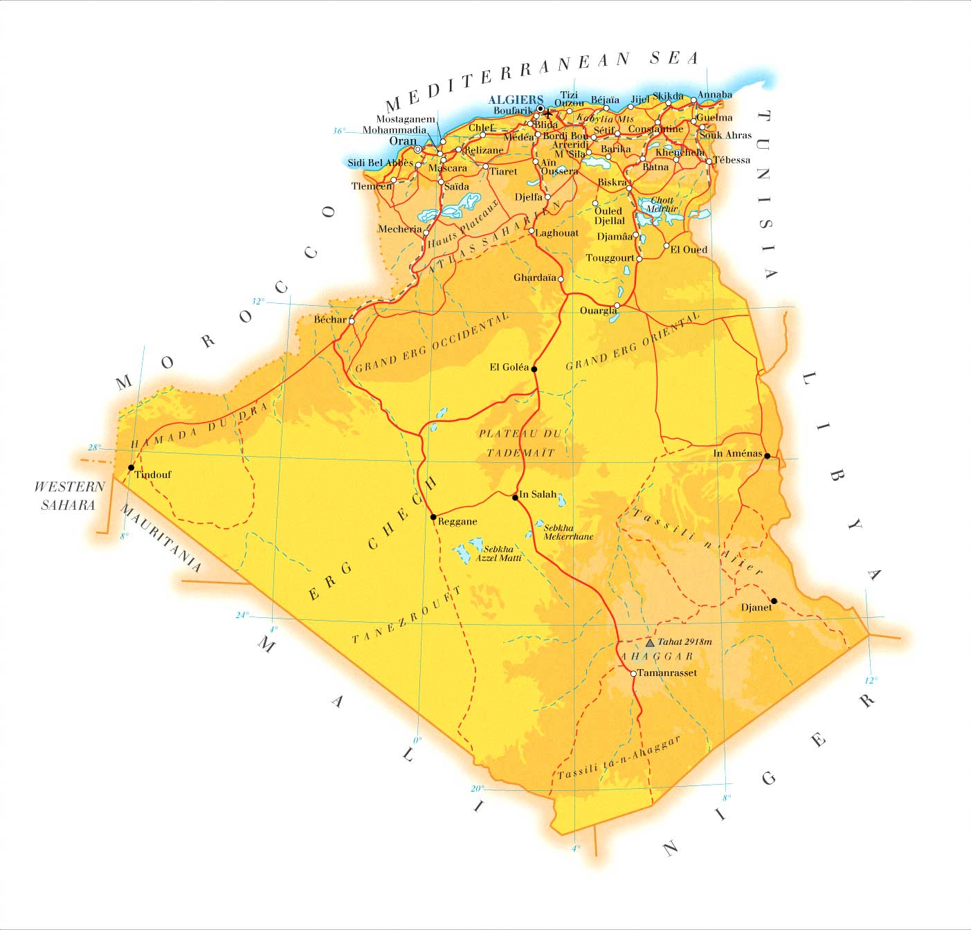 Maps of Algeria Map Library Maps of the World
