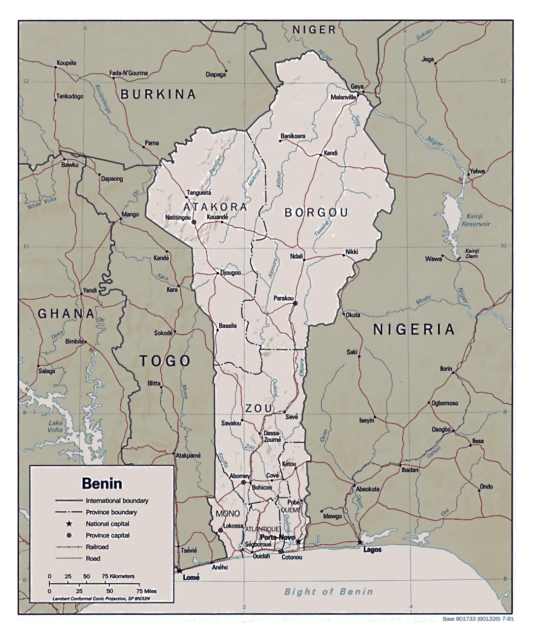 Maps of Benin Map Library Maps of the World