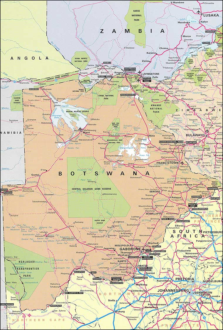 Maps of Botswana Map Library Maps of the World