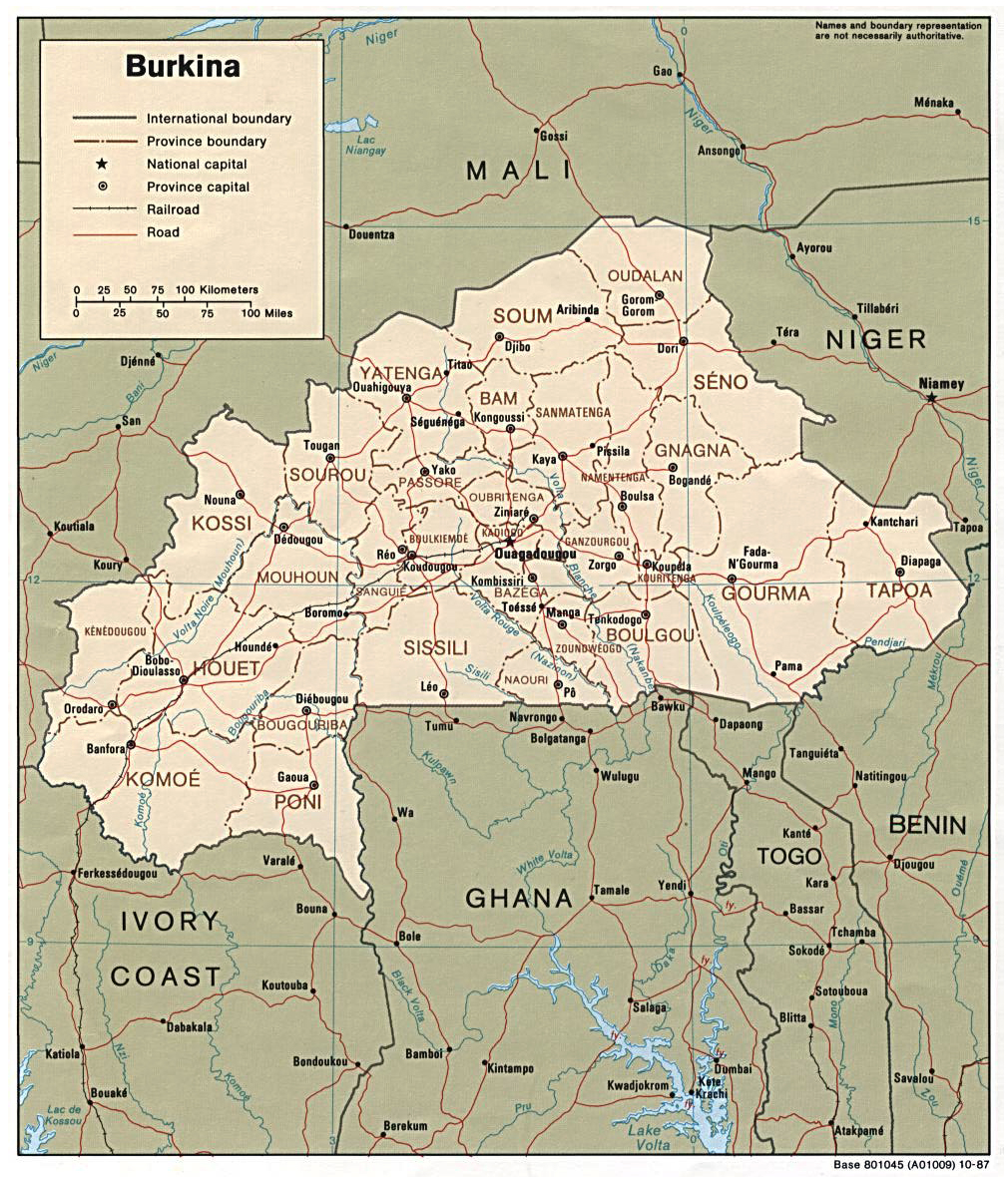 Maps of Burkina Faso Map Library Maps of the World