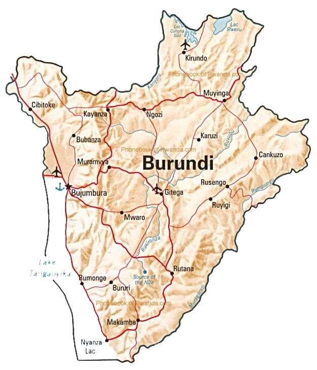 Maps of Burundi Map Library Maps of the World
