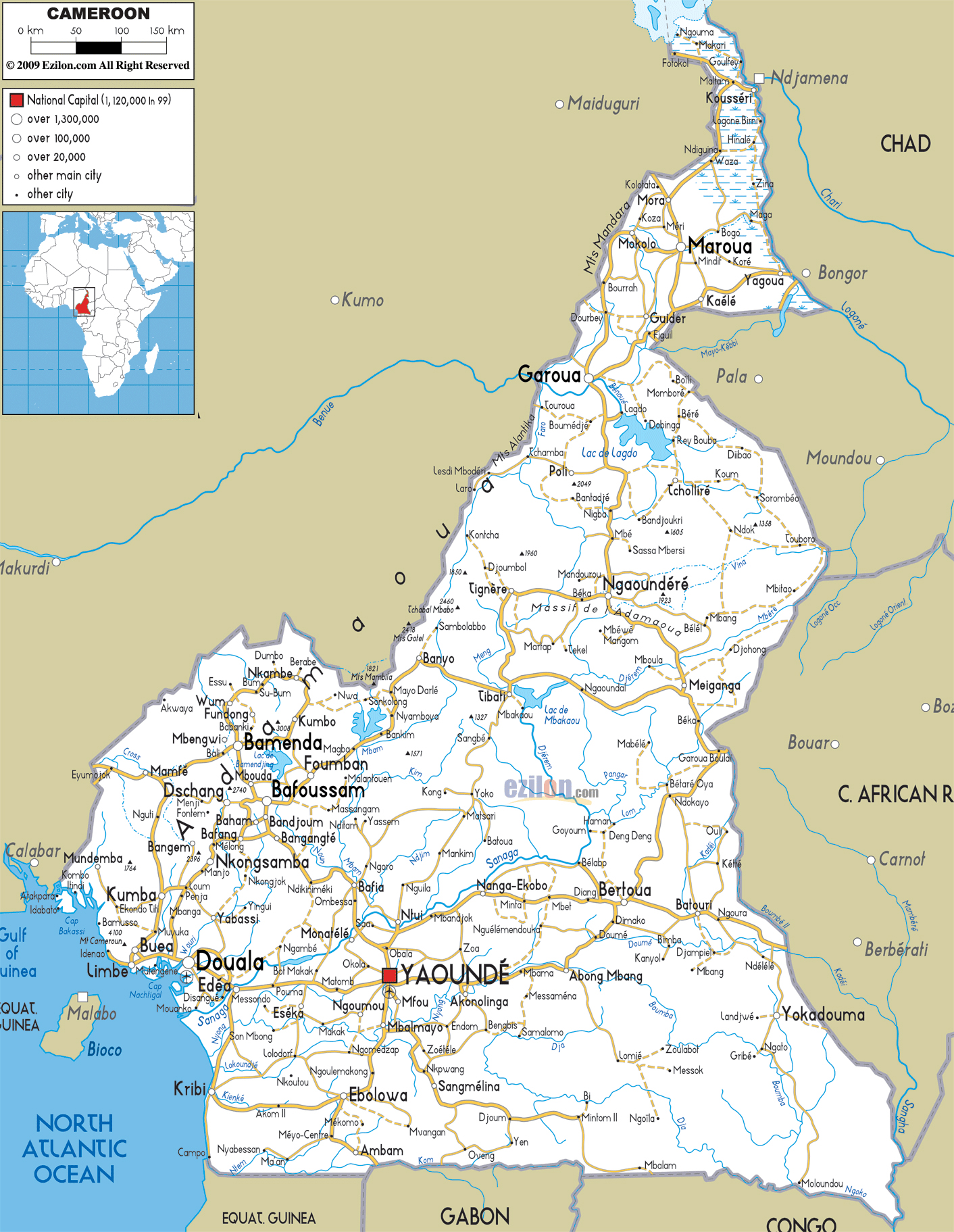 Maps of Cameroon Map Library Maps of the World