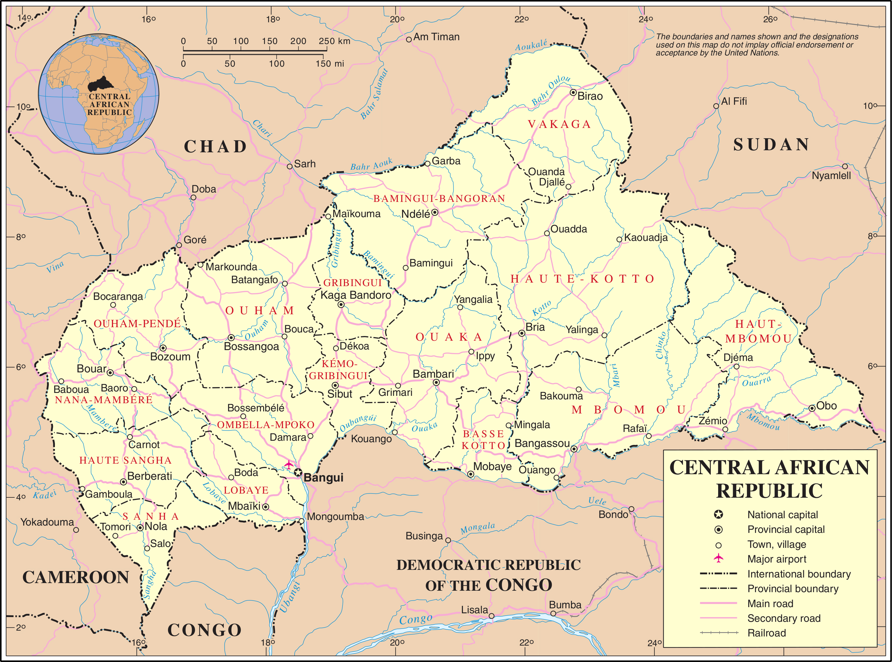 Maps Of Central African Republic Map Library Maps Of The World