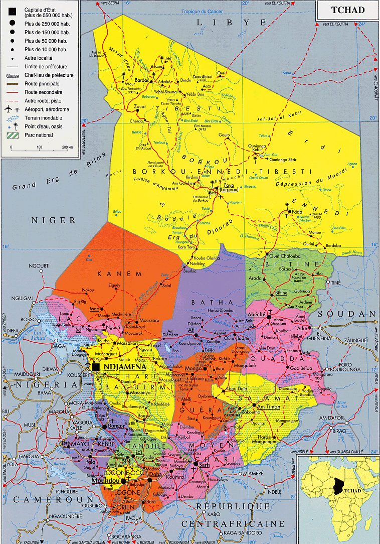 Maps of Chad Map Library Maps of the World