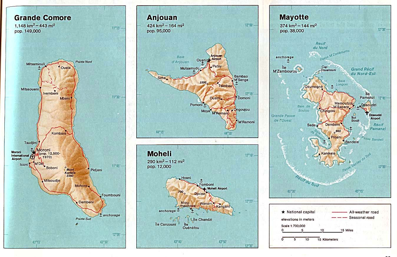 Maps of Comoros Map Library Maps of the World