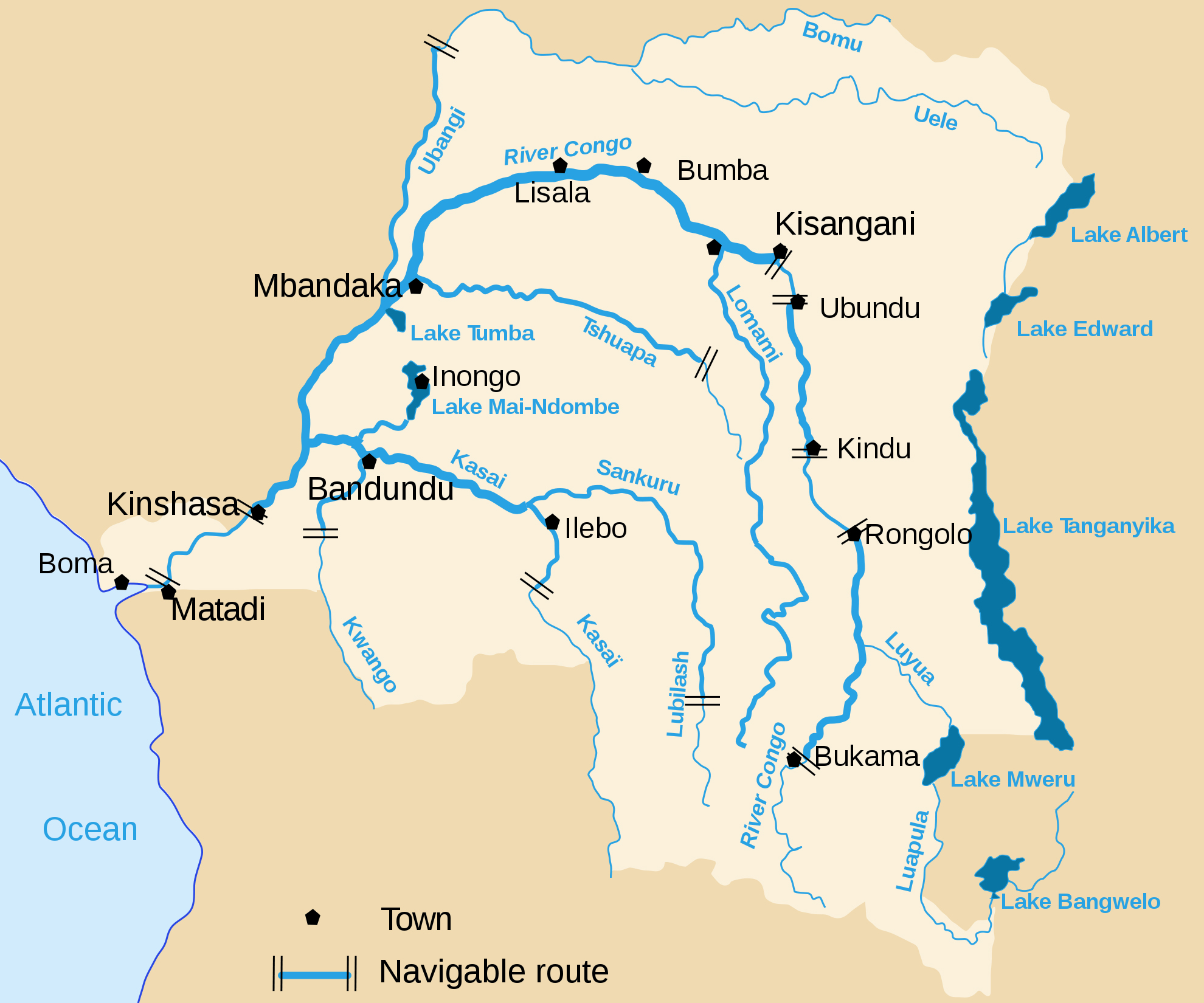 Maps of congo democratic republic zaire map library maps of congo democratic republic detailed map of river and lakes gumiabroncs Gallery