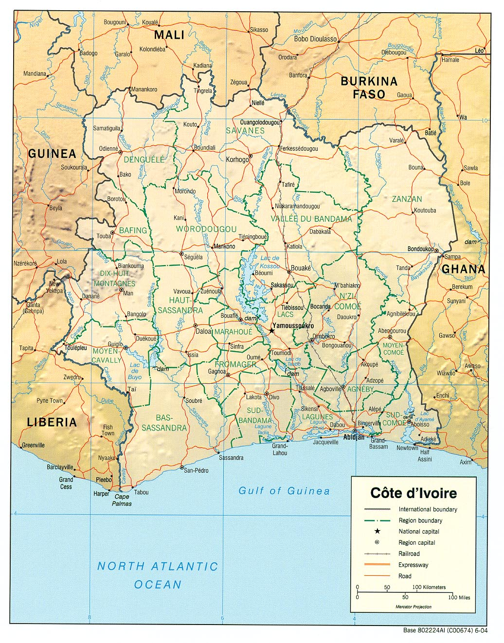 Maps of Cote dIvoire Map Library Maps of the World