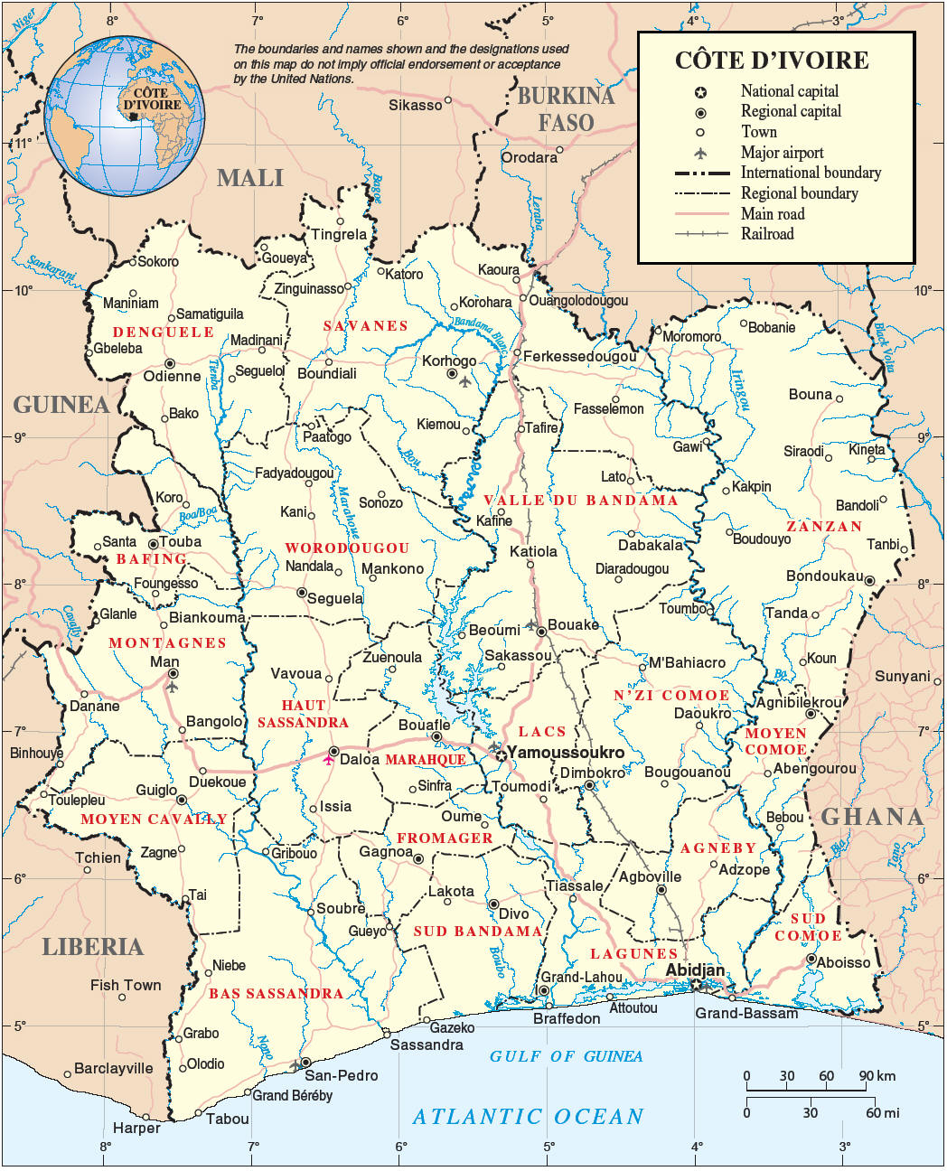 Maps of Cote d'Ivoire | Map Liry | Maps of the World Yamoussoukro Cote D Ivoire Map on abobo cote d'ivoire map, tripoli libya map, abidjan cote d'ivoire map, africa cote d'ivoire map, kigali rwanda map, ivory coast map, cote d'ivoire capital on map,
