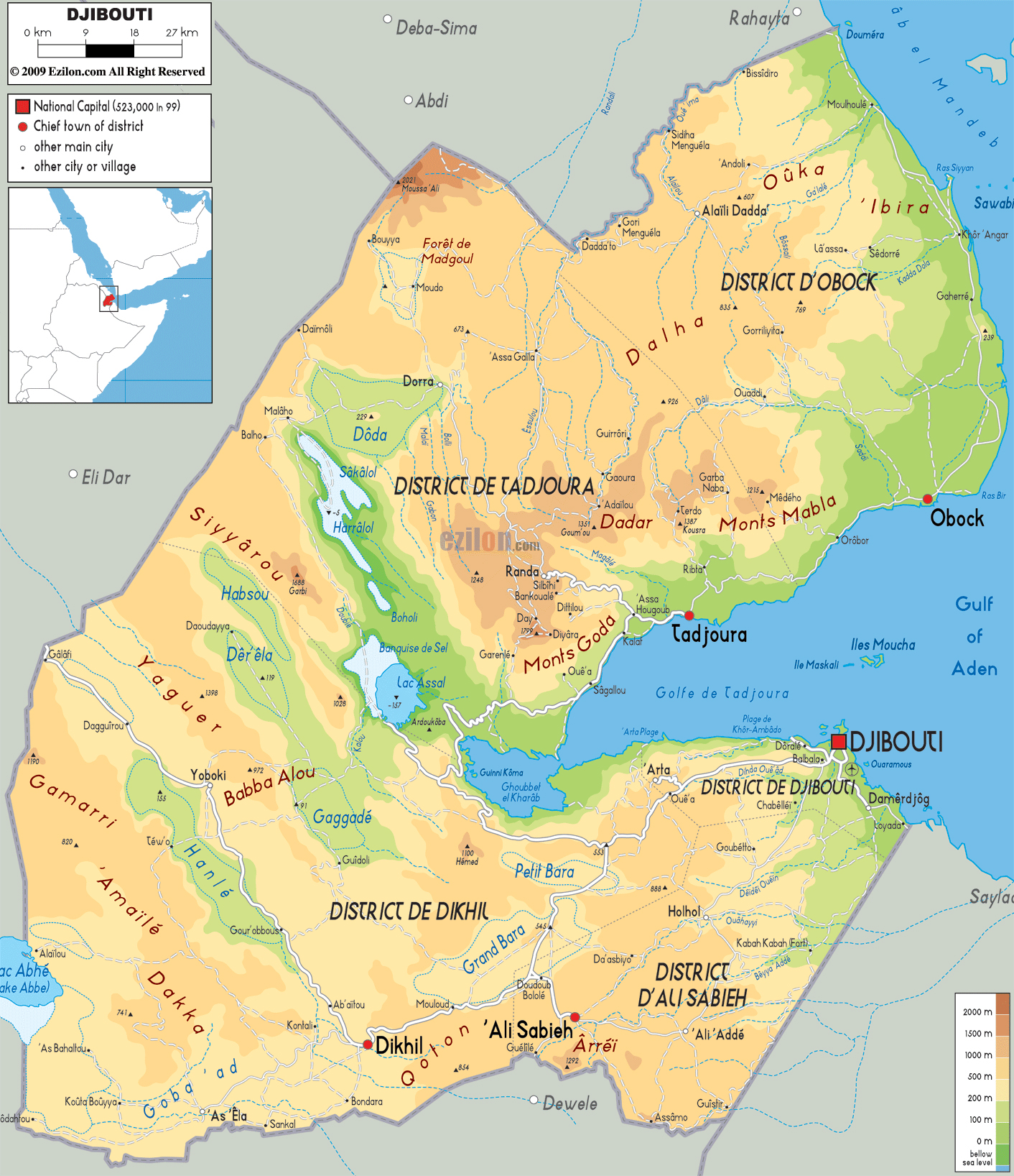 Djibouti On Africa Map.Maps Of Djibouti Map Library Maps Of The World