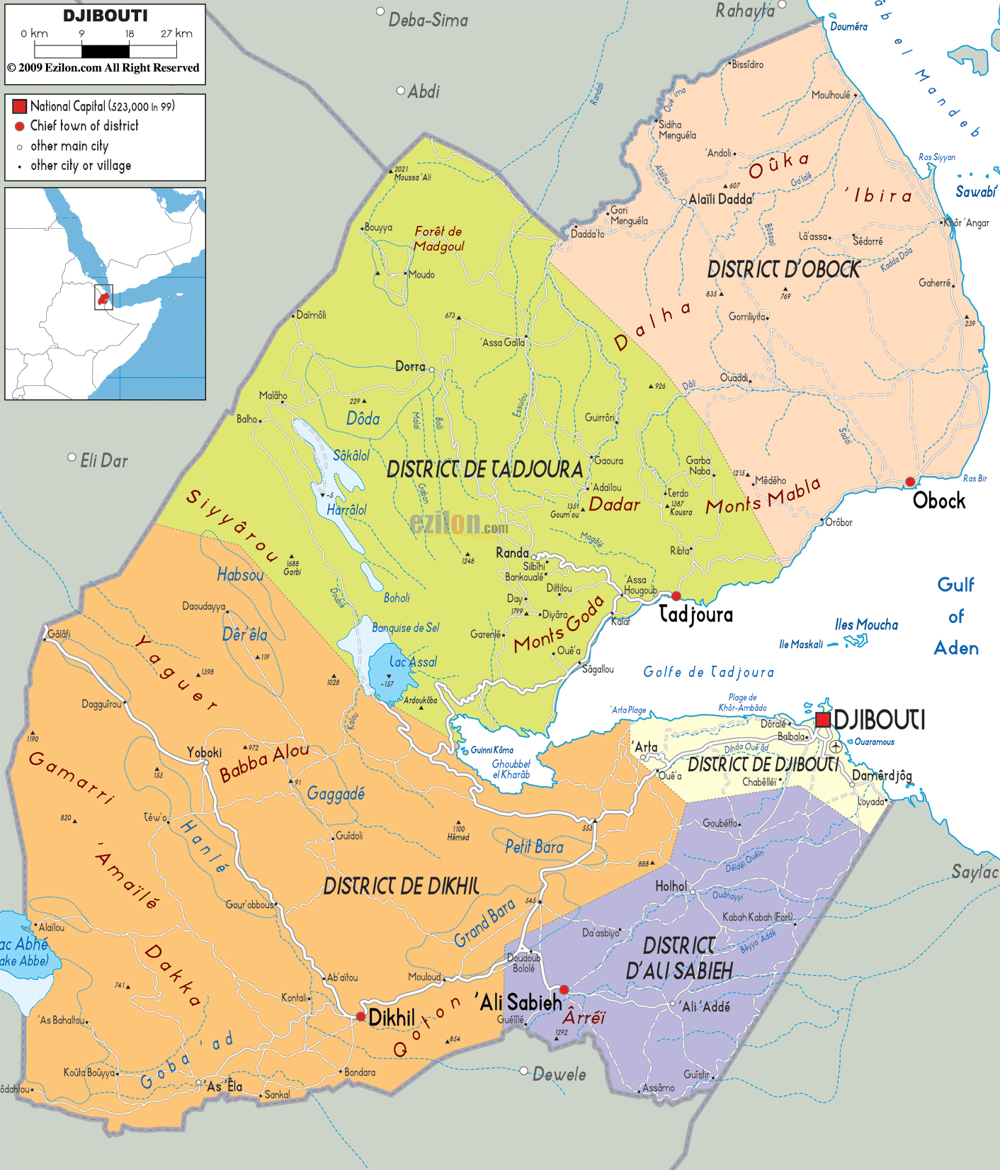 Maps of Djibouti | Map Library | Maps of the World