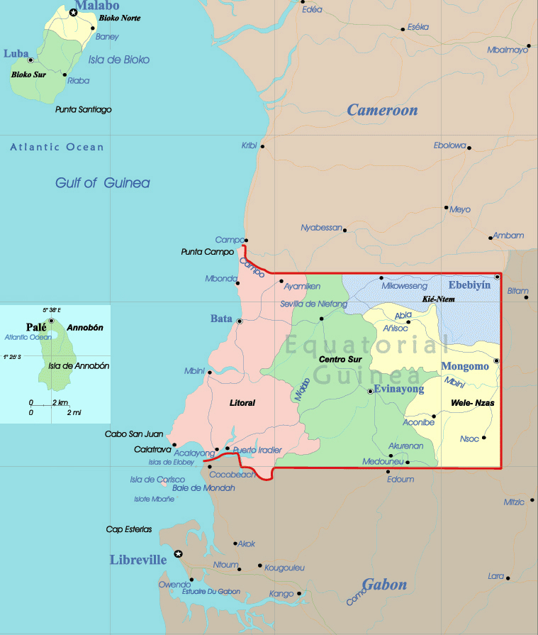 Maps of Equatorial Guinea Map Library Maps of the World