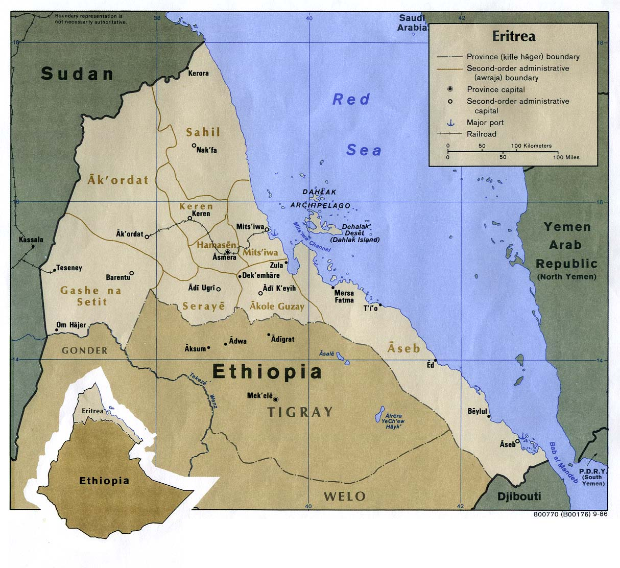 Maps of eritrea map library maps of the world detailed political map of eritrea with cities and highways gumiabroncs Image collections