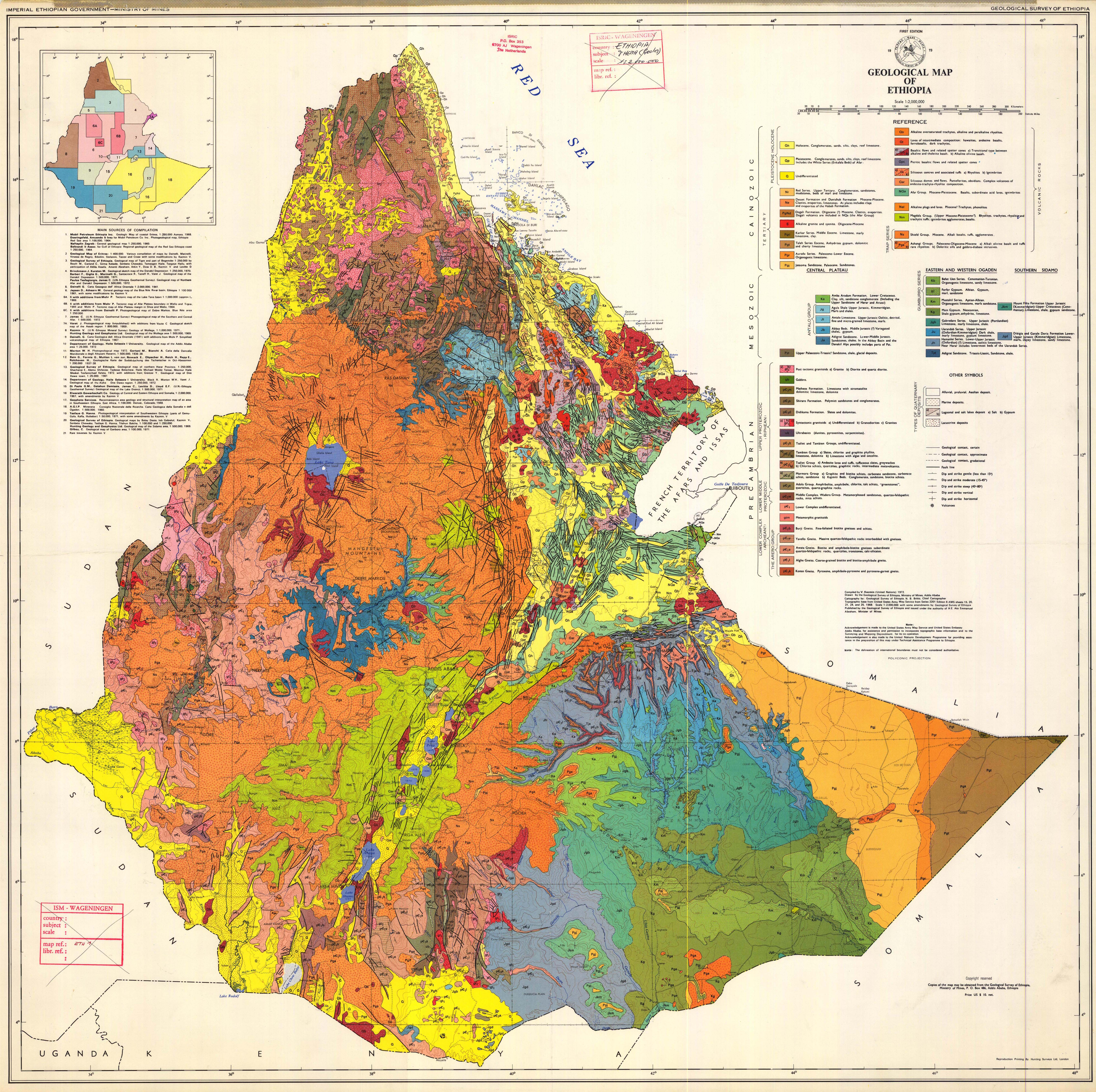 Maps of Ethiopia Map Library Maps of the World