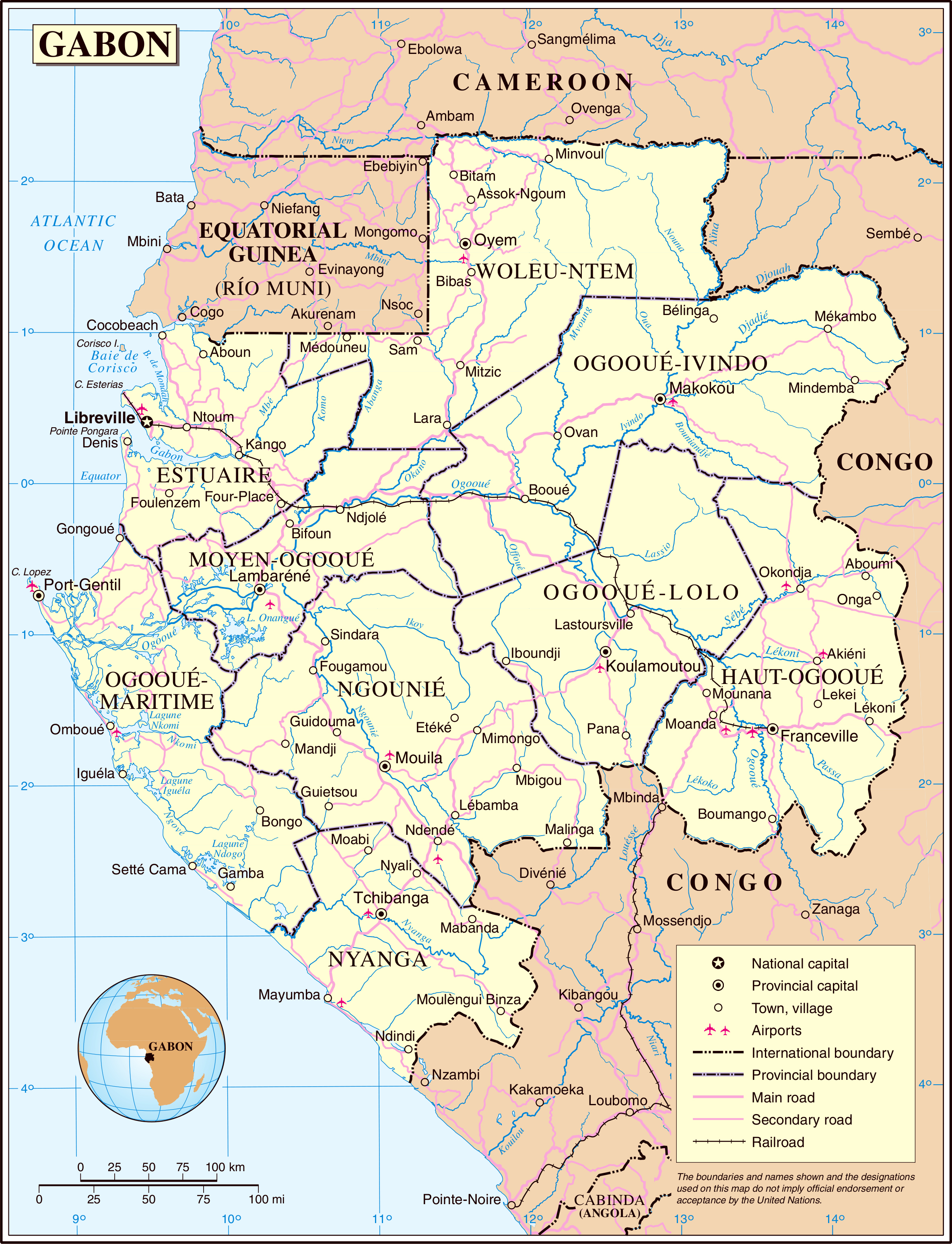 Maps of Gabon Map Library Maps of the World