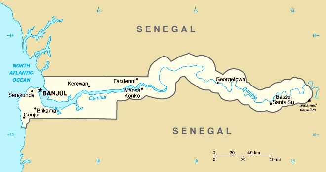 Maps of Gambia Map Library Maps of the World