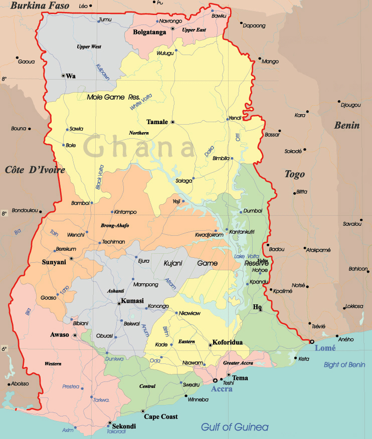 Maps of Ghana Map Library Maps of the World