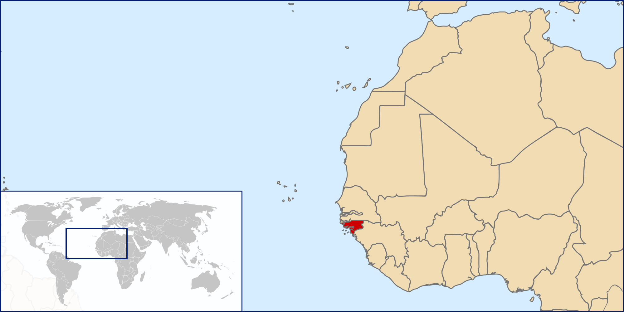 Maps of GuineaBissau Map Library Maps of the World