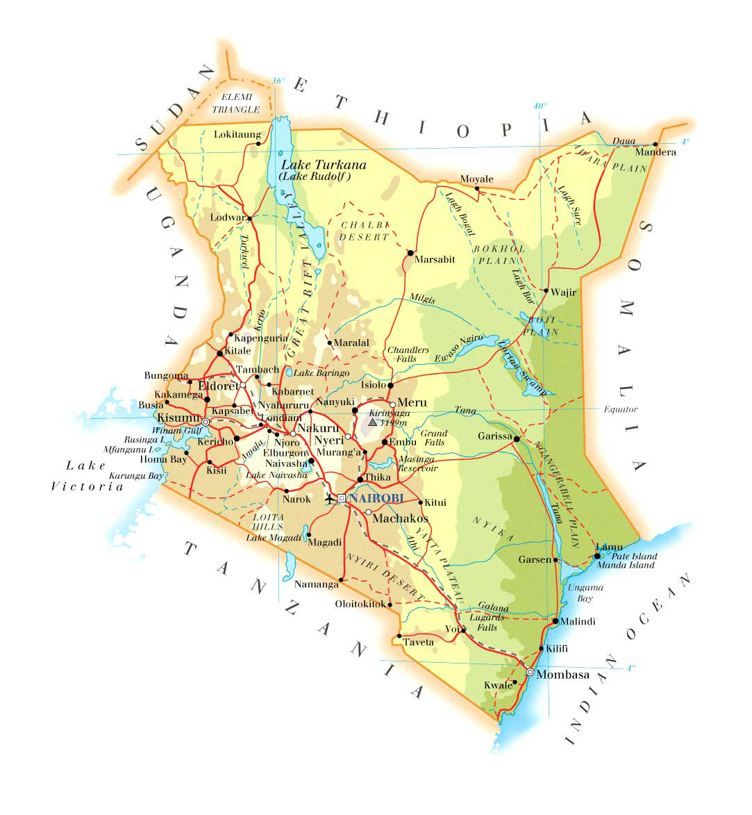 Maps of Kenya | Map Library | Maps of the World