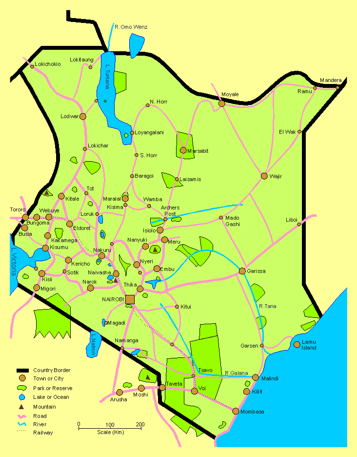 Maps of kenya map library maps of the world detailed travel map of kenya gumiabroncs Gallery