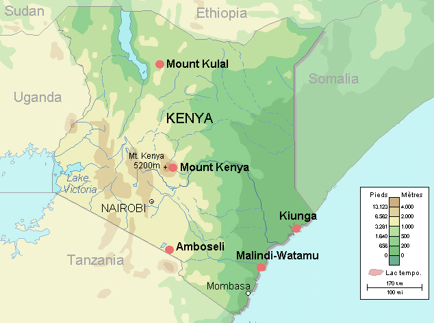 Maps of Kenya Map Library Maps of the World