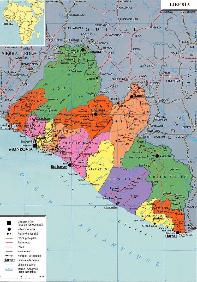 Maps of Liberia Map Library Maps of the World