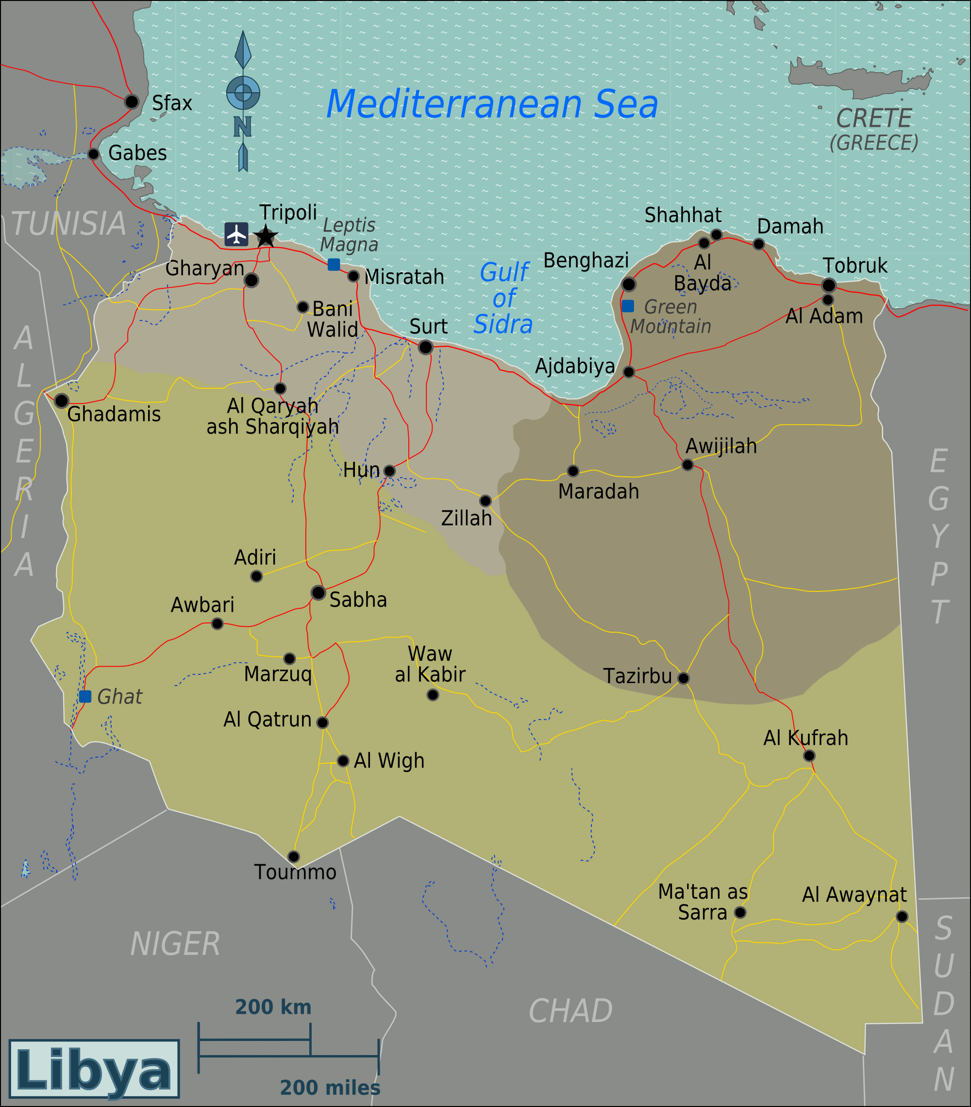 Maps Of Libya Map Library Maps Of The World