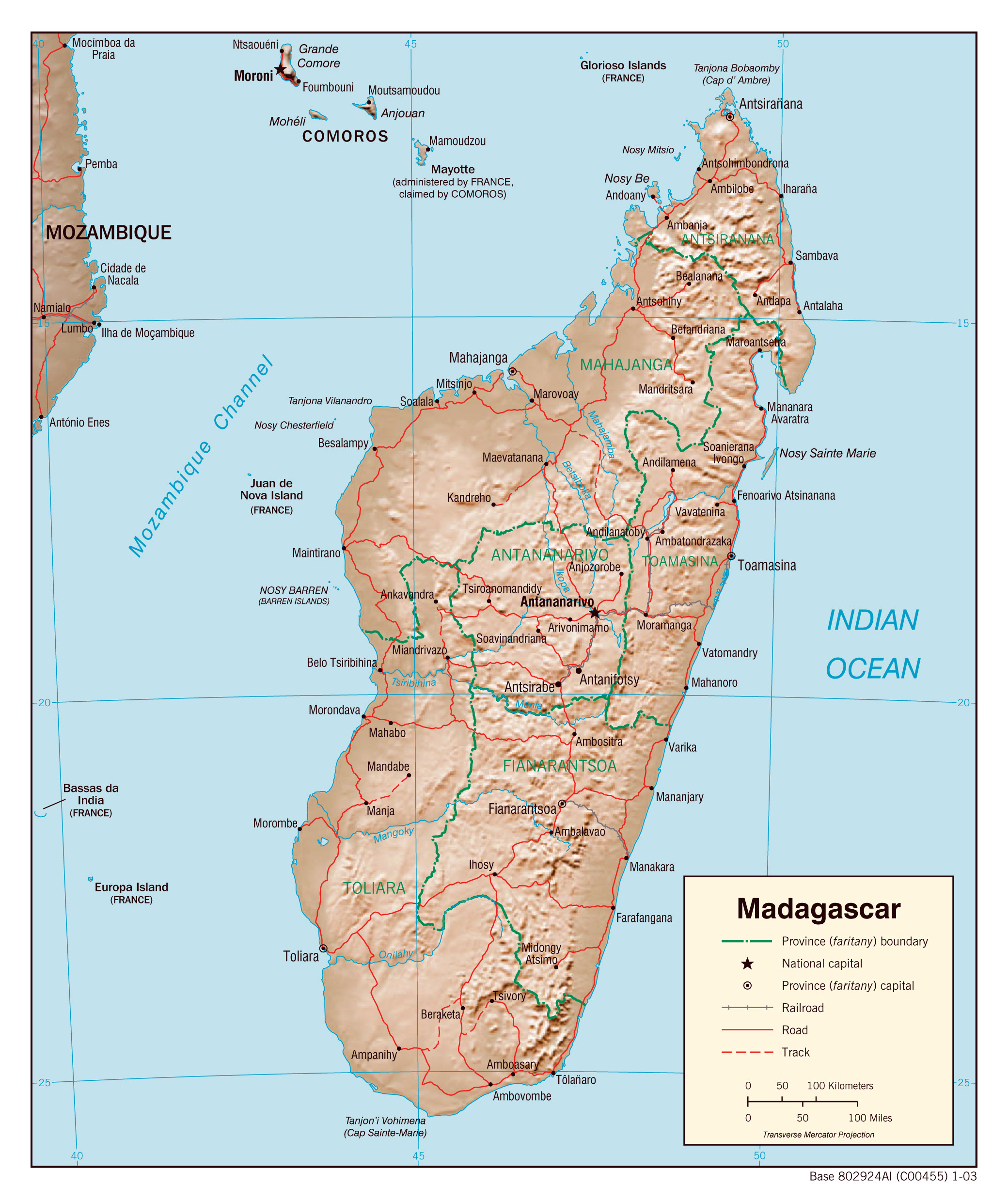 Maps of Madagascar Map Library Maps of the World