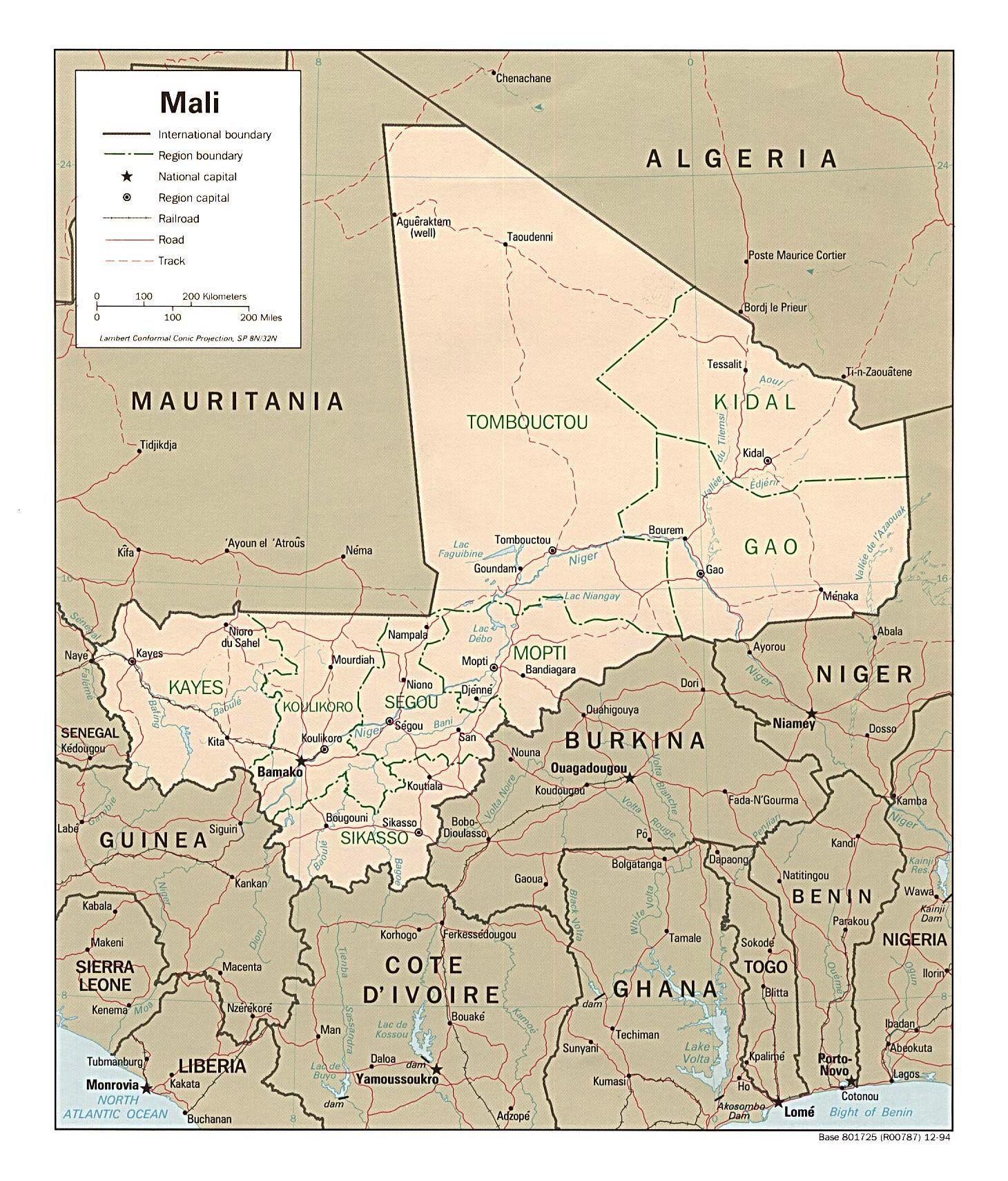 Maps of Mali Map Library Maps of the World