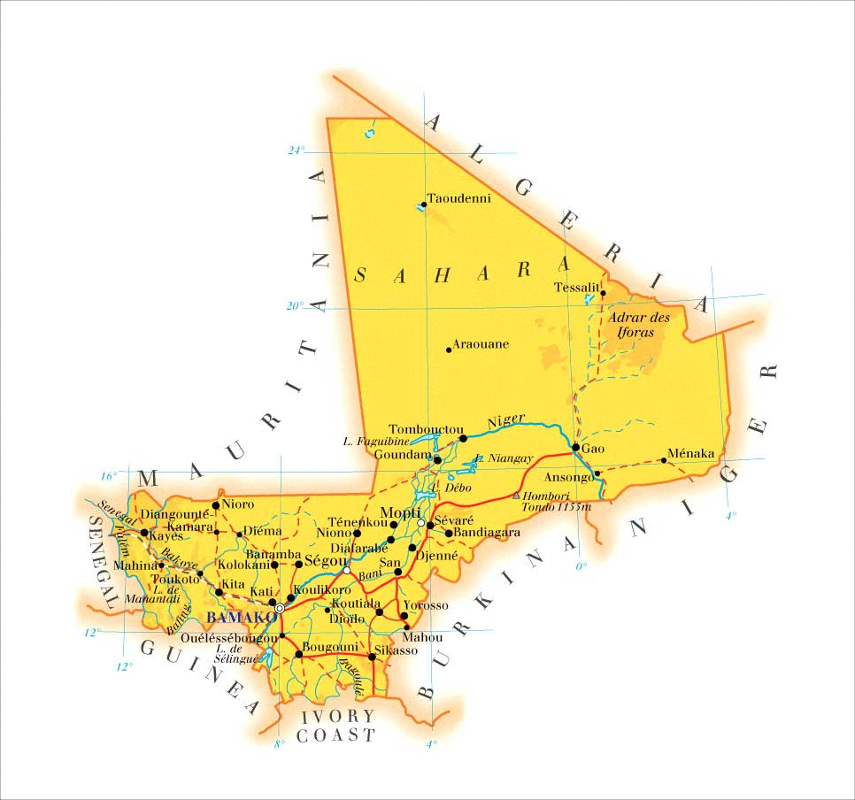 Maps of Mali | Map Library | Maps of the World