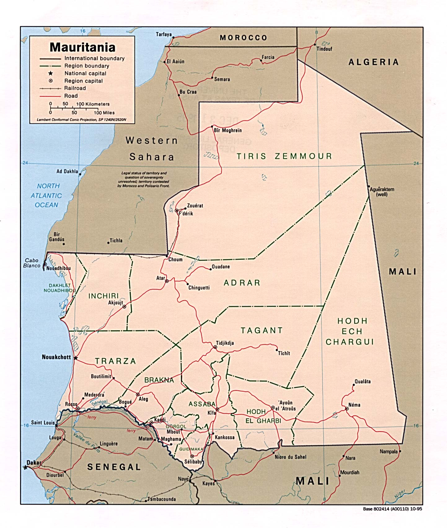 Maps of Mauritania Map Library Maps of the World