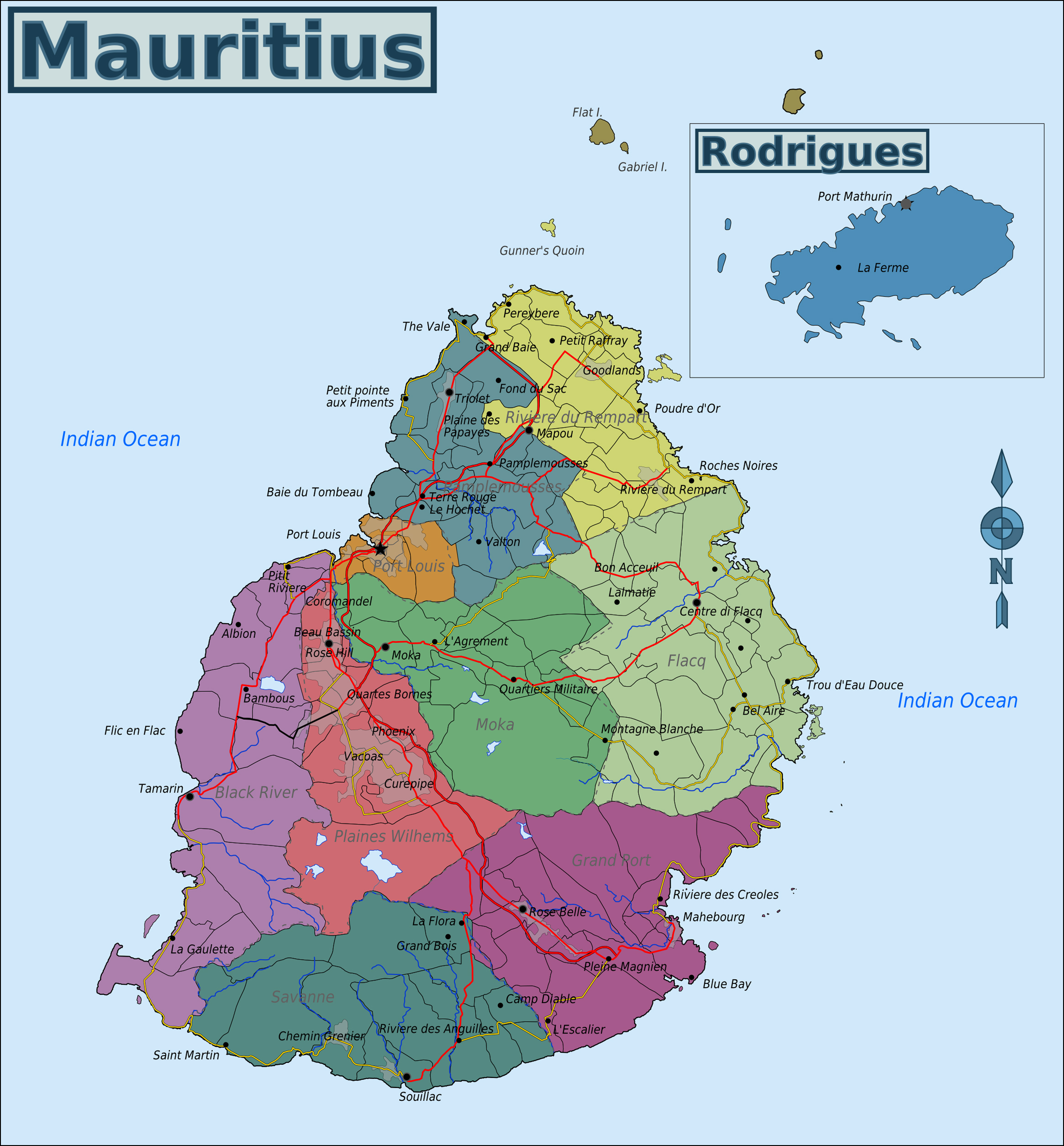 Maps of mauritius map library maps of the world full political map of mauritius gumiabroncs Images