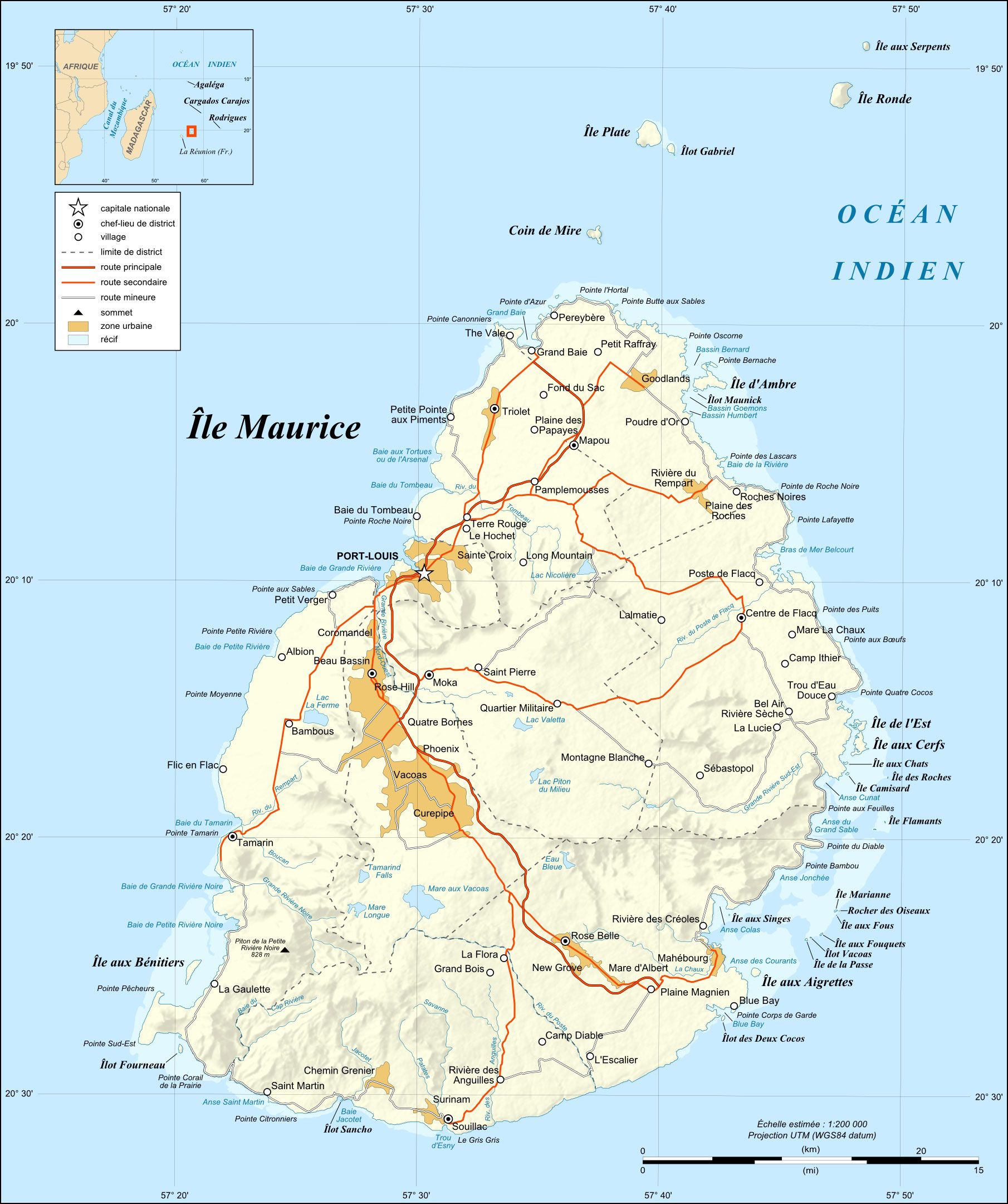 Maps Of Mauritius Map Library Maps Of The World - Political map of mauritius
