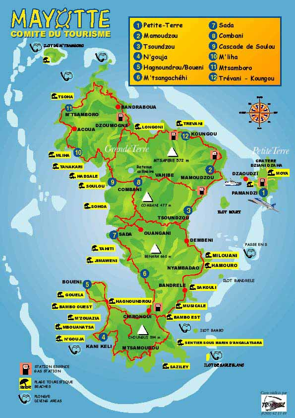 Maps of Mayotte Island Map Library Maps of the World