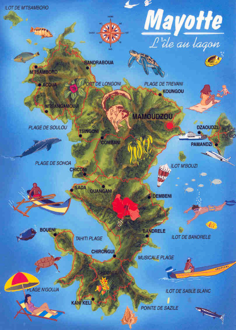 maps of mayotte island