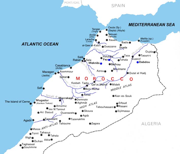 Maps of Morocco | Map Library | Maps of the World