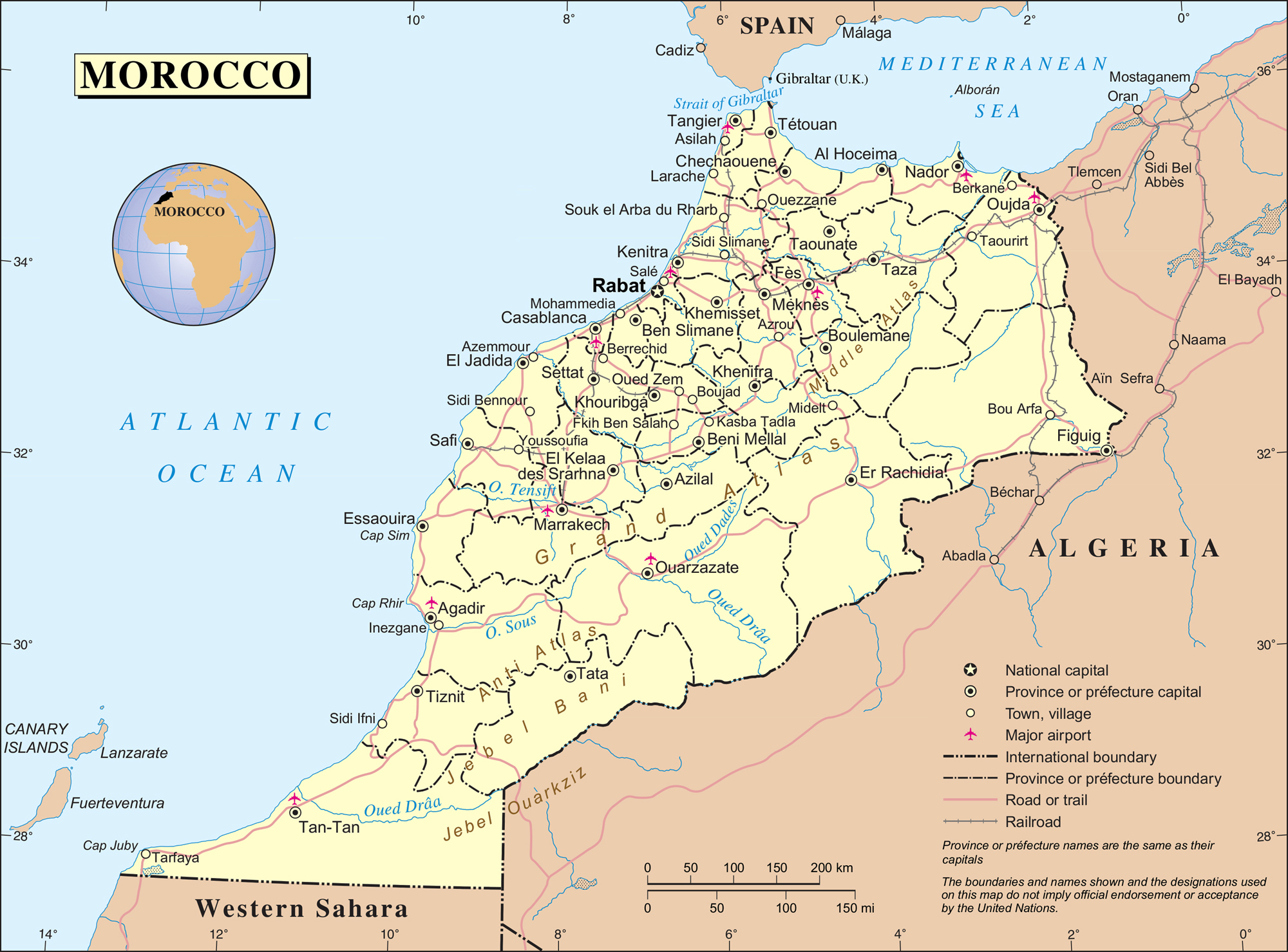 Maps of Morocco Map Library Maps of the World
