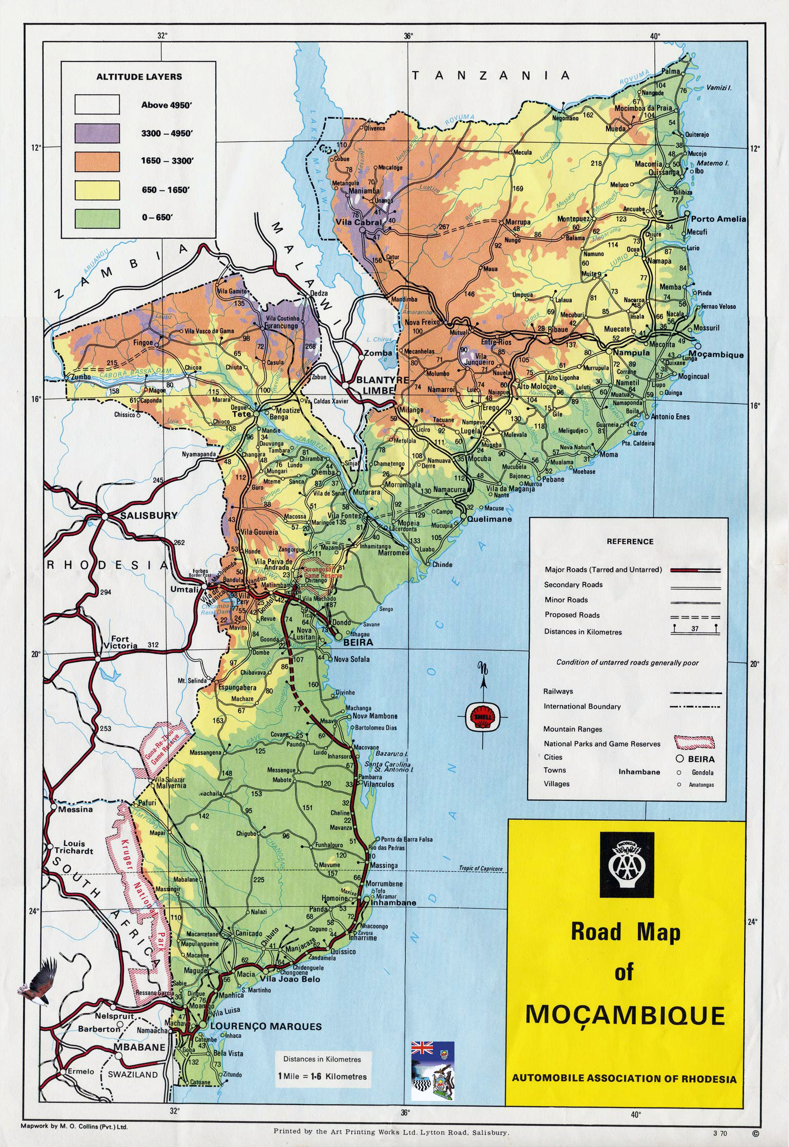 Maps of Mozambique Map Library Maps of the World