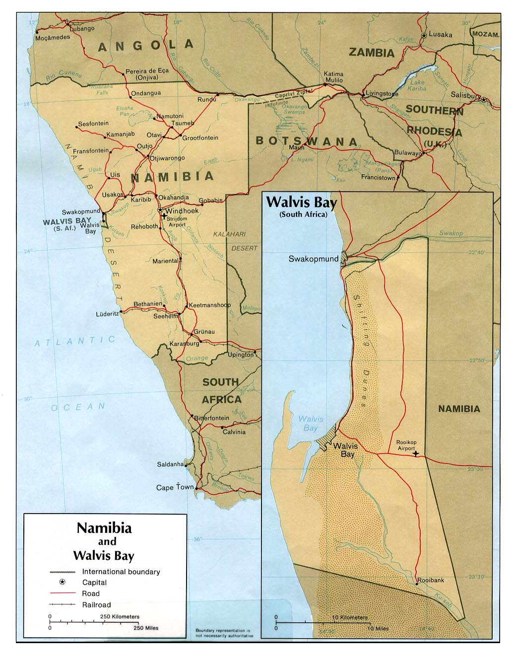 Maps of Namibia Map Library Maps of the World