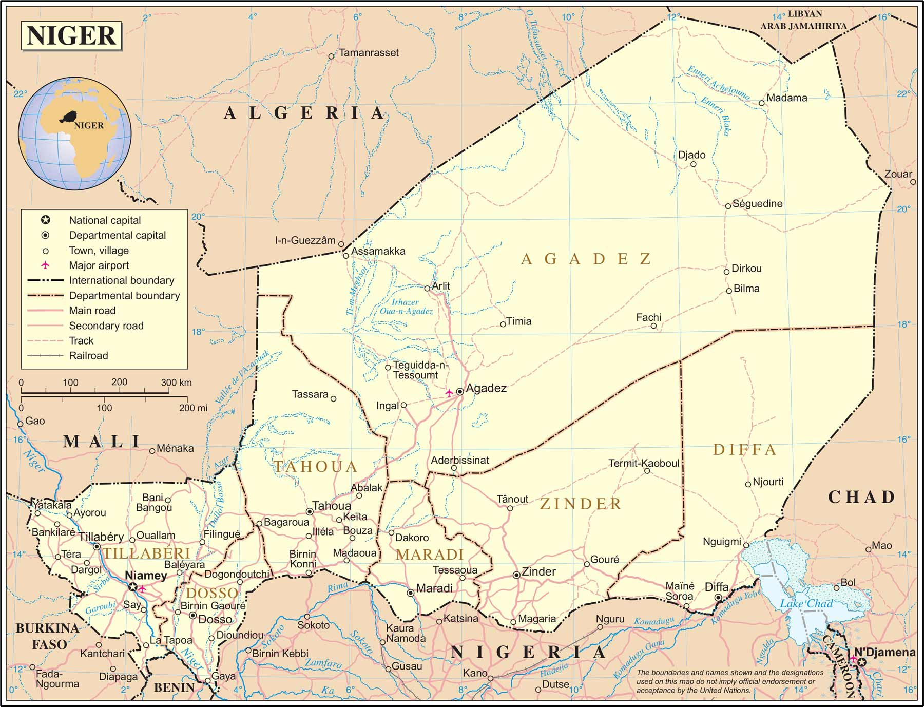 Maps of Niger Map Library Maps of the World