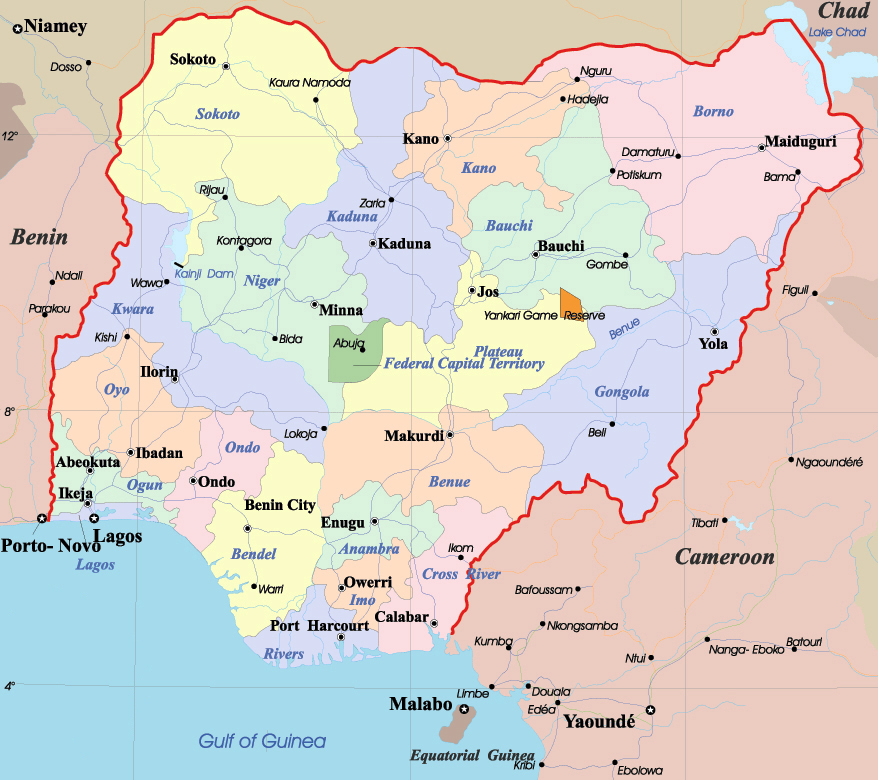 Maps of Nigeria Map Library Maps of the World