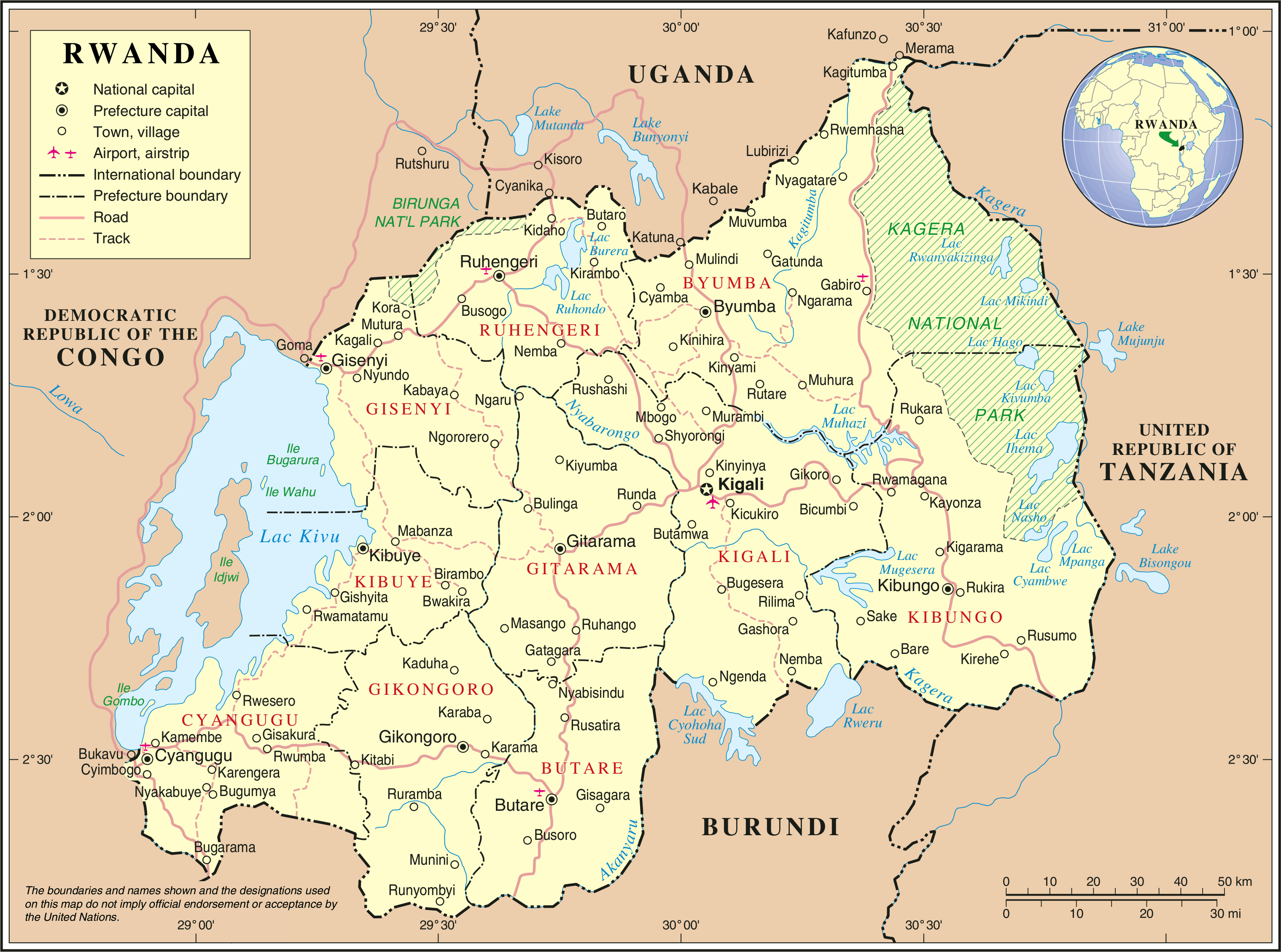 Maps of Rwanda Map Library Maps of the World