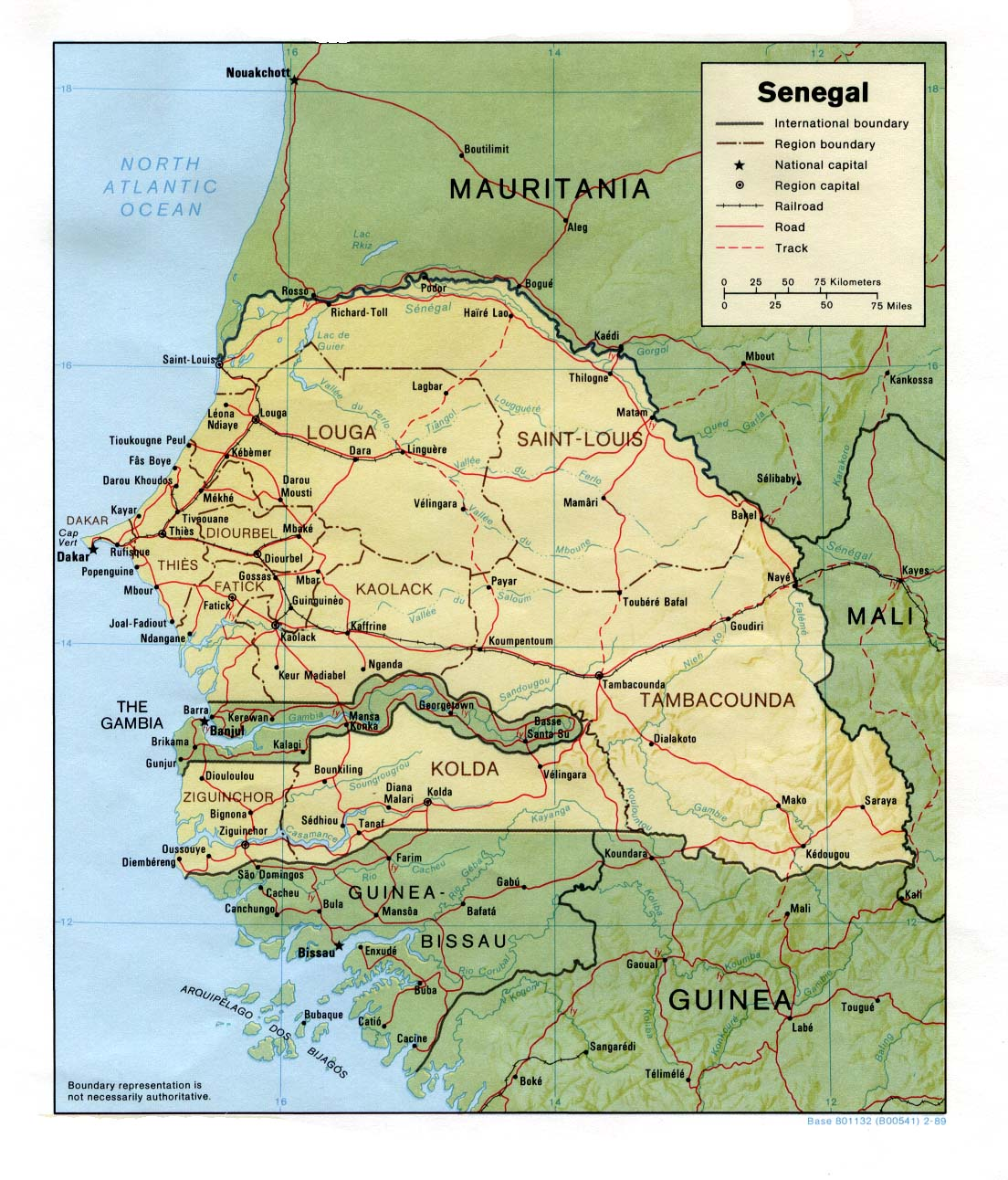Maps of Senegal Map Library Maps of the World