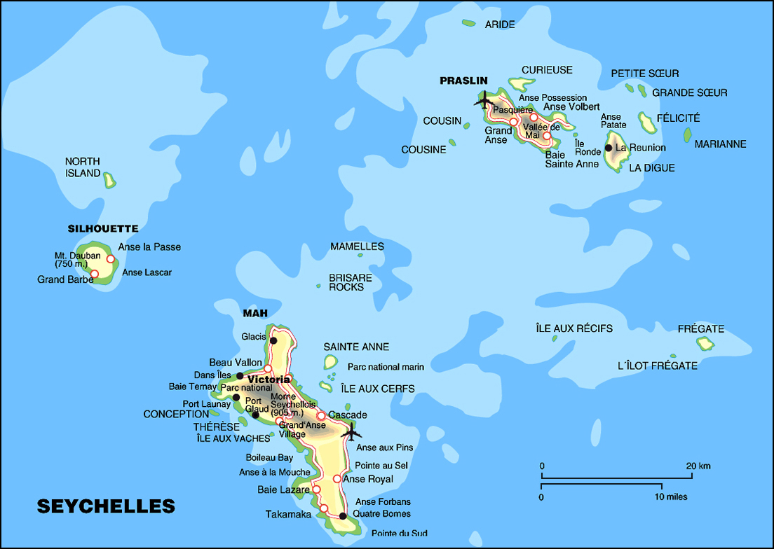 Maps Of Seychelles Map Library Maps Of The World - Seychelles interactive map