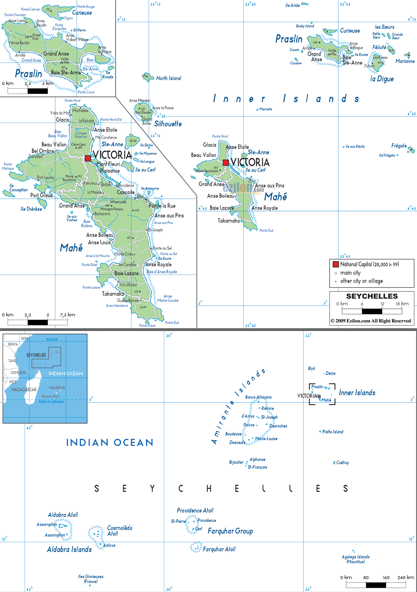 Maps of Seychelles Map Library Maps of the World