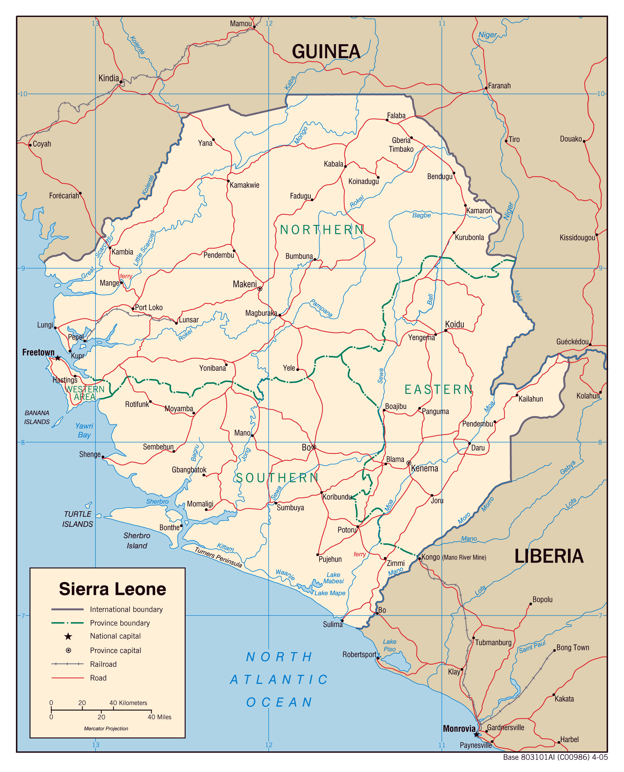 Maps of Sierra Leone Map Library Maps of the World