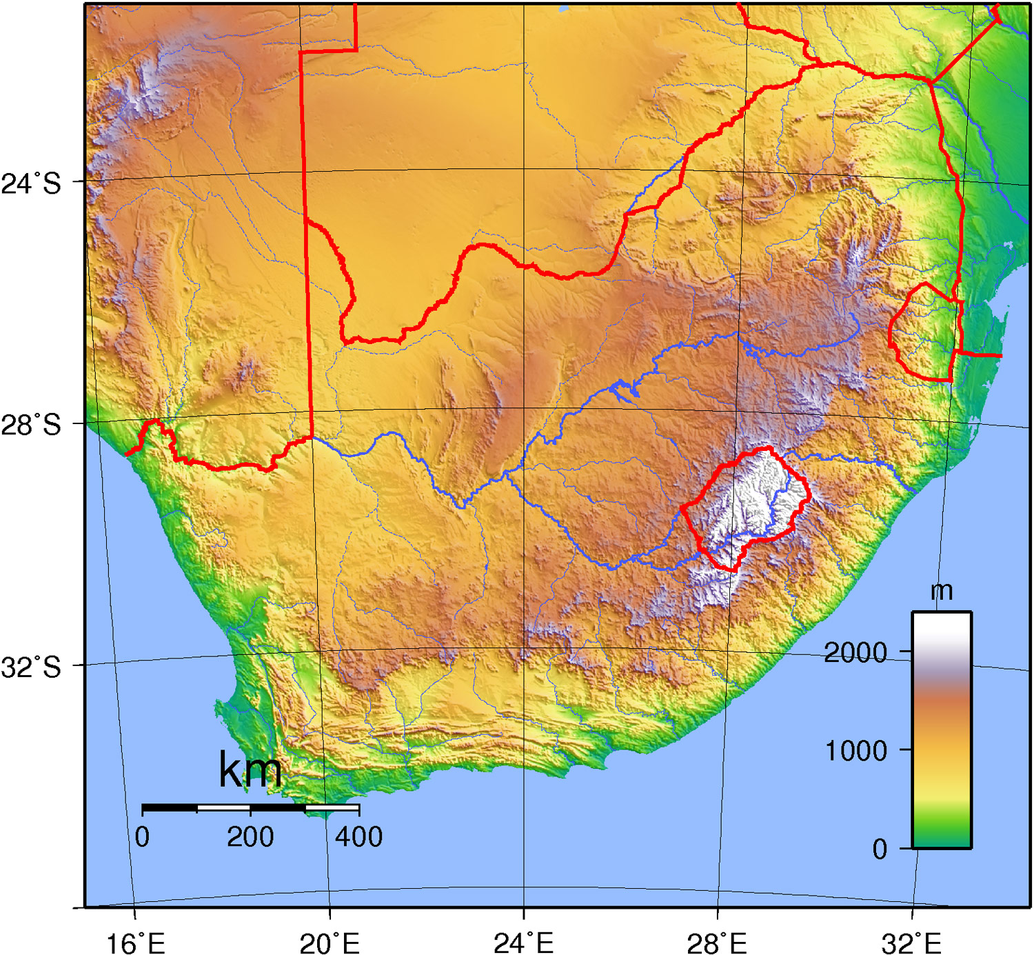 Maps of South Africa Map Library Maps of the World