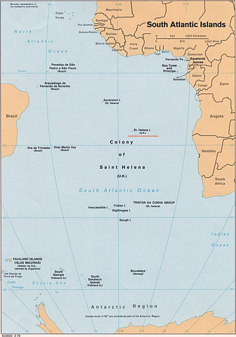 Maps of St Helena Map Library Maps of the World