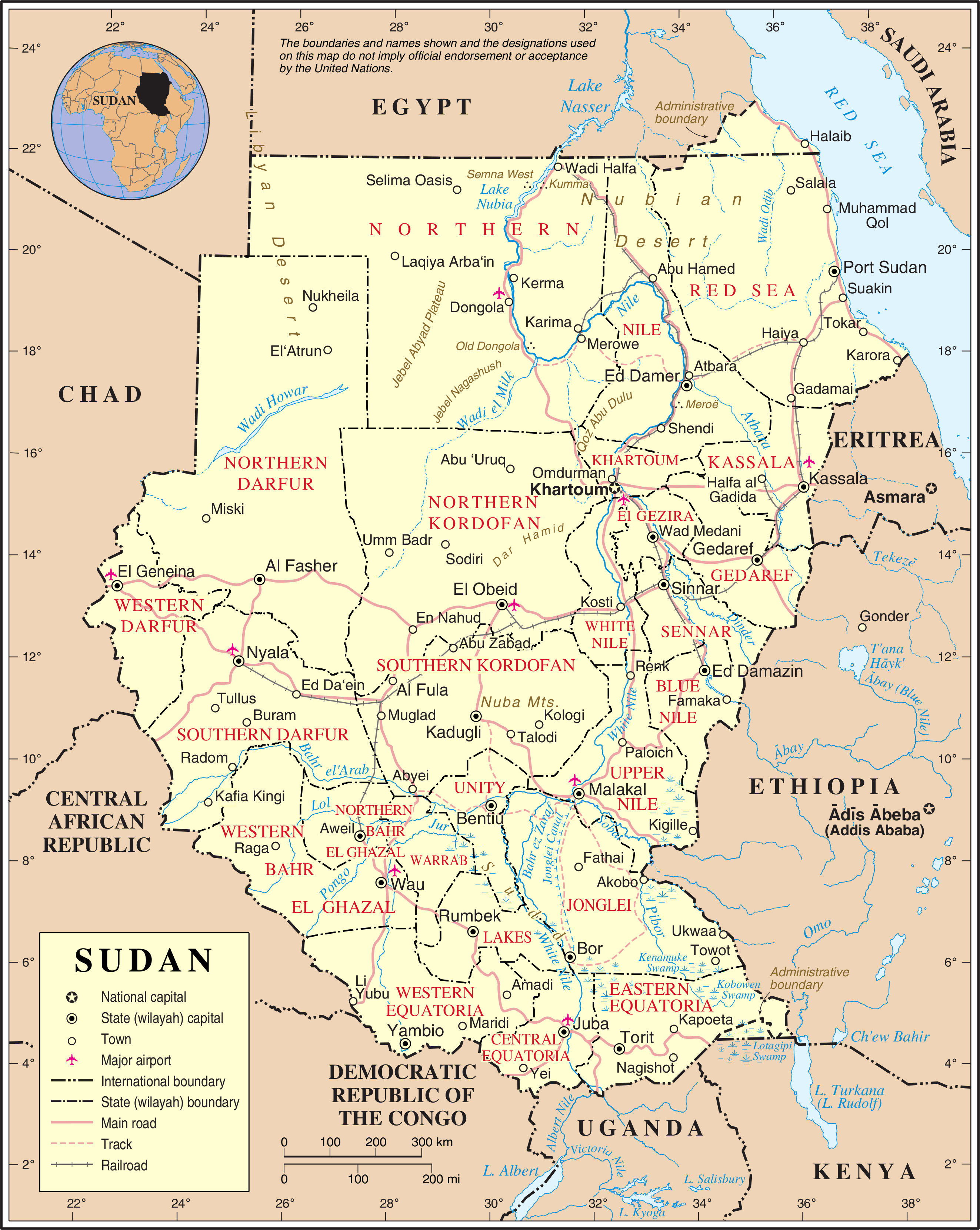 Maps of Sudan Map Library Maps of the World