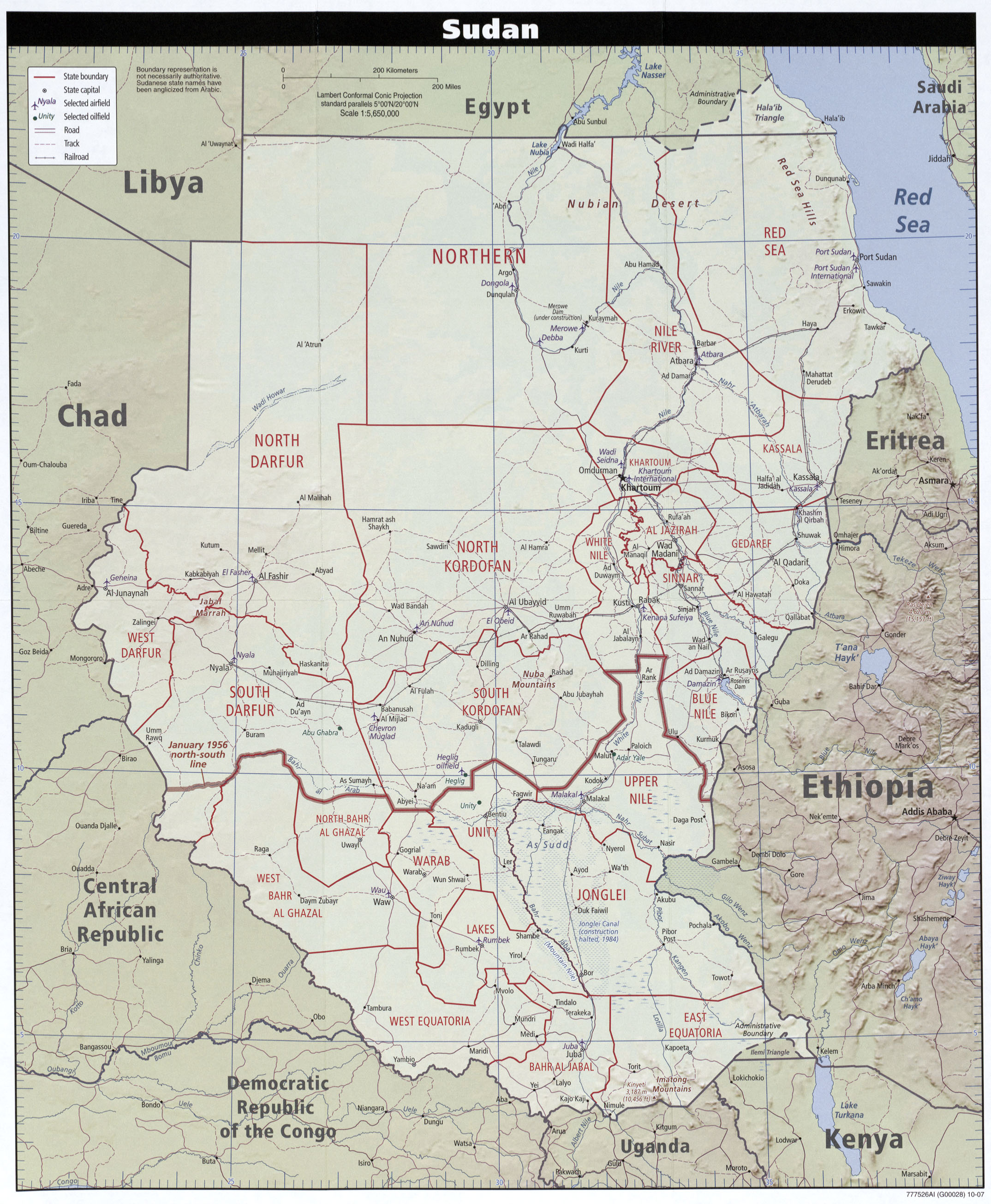 Maps of Sudan | Map Library | Maps of the World