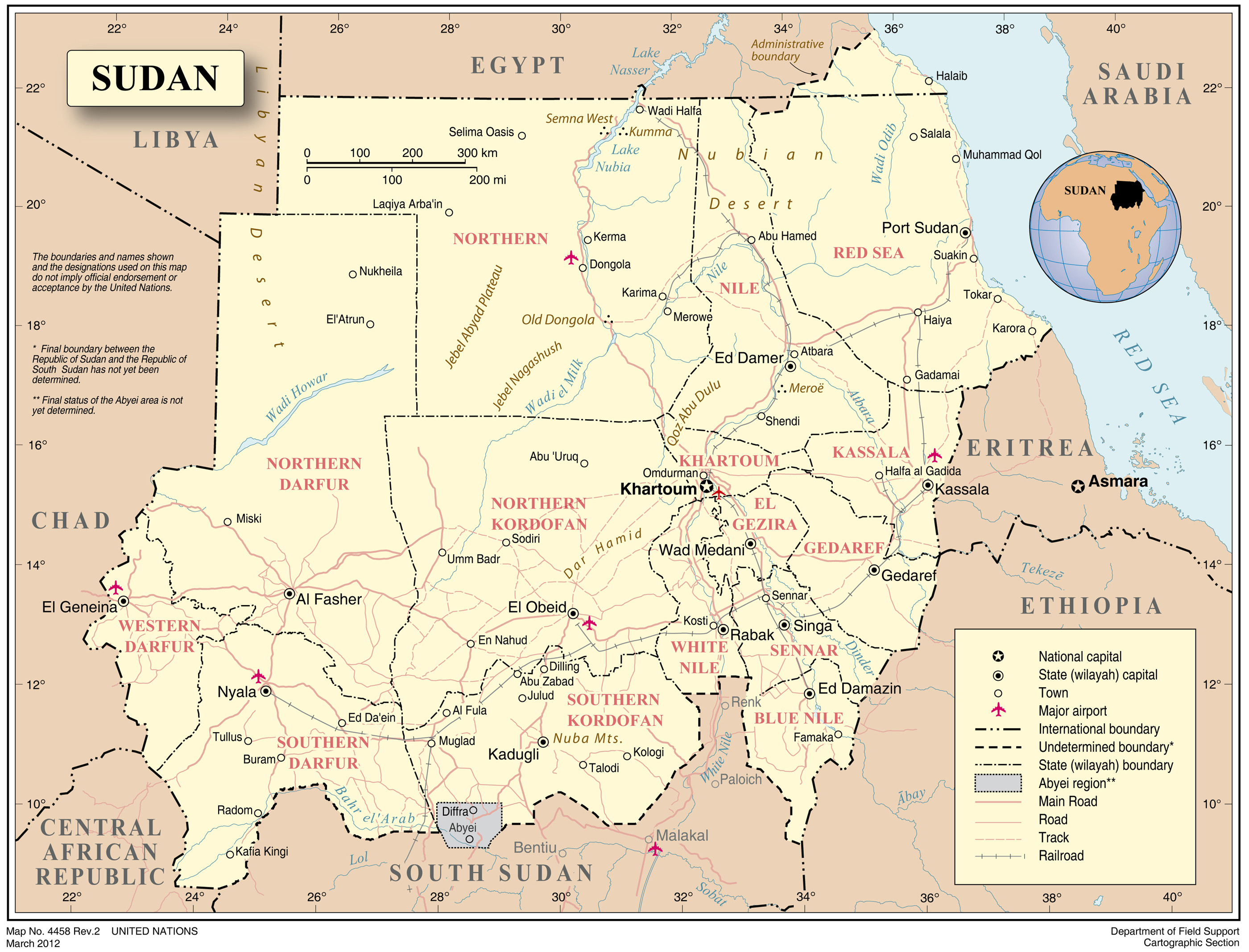Maps of sudan map library maps of the world sudan detailed political map with cities roads and rivers gumiabroncs Gallery
